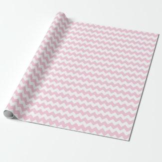Rayas rosadas y blancas de la niña del zigzag de papel de regalo