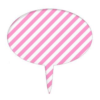 Rayas rosadas y blancas del caramelo decoración de tarta
