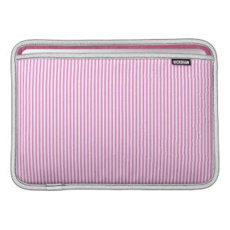 Rayas rosadas y blancas funda  MacBook