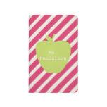 Rayas rosadas y profesor verde de Apple