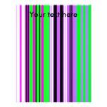 Rayas rosadas y púrpuras violetas modernas membrete a diseño