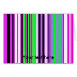 Rayas rosadas y púrpuras violetas modernas felicitacion