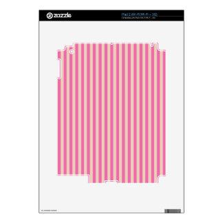 Rayas rosadas y rojas calcomanías para iPad 2