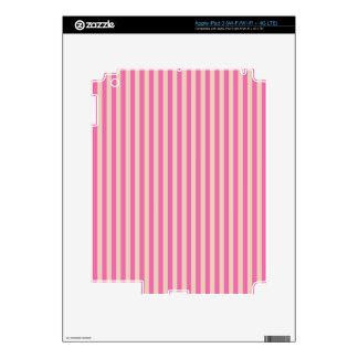 Rayas rosadas y rojas iPad 3 pegatinas skins