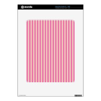 Rayas rosadas y rojas iPad skin