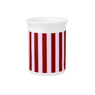 Rayas rosadas y rojas jarras para bebida