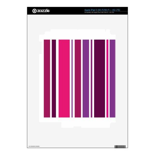 Rayas rosadas y violetas iPad 3 skin