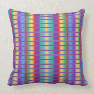 Rayas rotas multicolor almohadas