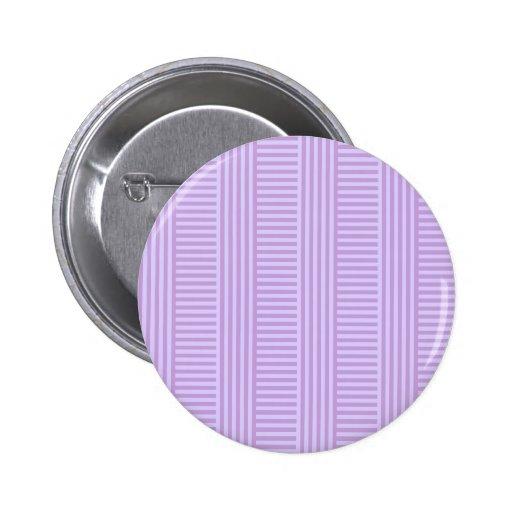 Rayas simples de V&H - glicinias y lavanda pálida Pin Redondo 5 Cm