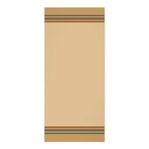 rayas simples del biege diseño de tarjeta publicitaria