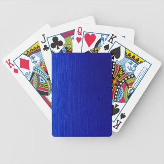 Rayas sombreadas azul baraja cartas de poker