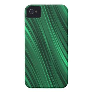 Rayas sombreadas del verde esmeralda iPhone 4 Case-Mate coberturas