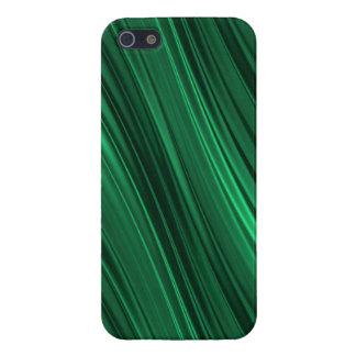 Rayas sombreadas del verde esmeralda iPhone 5 fundas