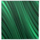 Rayas sombreadas del verde esmeralda servilletas imprimidas