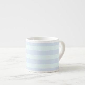 Rayas suavemente verdes y azules - taza del café taza espresso