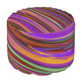 Rayas suaves de las ondas coloreadas + sus ideas puf redondo