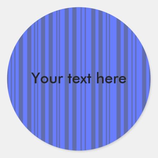 Rayas transparentes grises y azules modernas etiqueta redonda