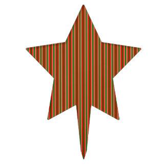 Rayas tricoloras en el navidad rojo, verde y oro decoraciones para tartas