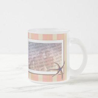 Rayas veraniegas taza de café