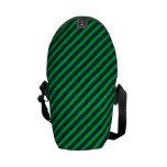 Rayas verdes bolsa de mensajería