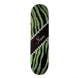 Rayas verdes claras conocidas de encargo del tigre tabla de patinar