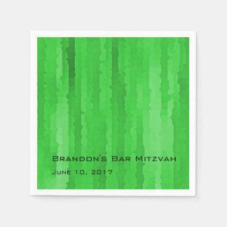 Rayas verdes claras de Mitzvah Techno de la barra Servilleta Desechable