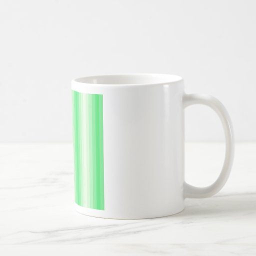 Rayas verdes claras taza básica blanca