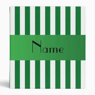 "Rayas verdes conocidas personalizadas carpeta 1"""
