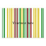 Rayas verdes de Borgoña del oro moderno Invitación 12,7 X 17,8 Cm