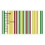 Rayas verdes de Borgoña del oro moderno Tarjetas Personales