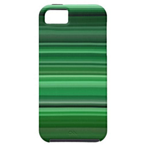 Rayas verdes de la hoja iPhone 5 carcasa