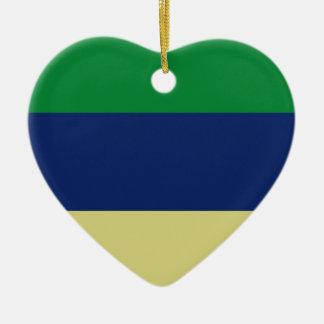 Rayas verdes, del azul y del limón adornos de navidad