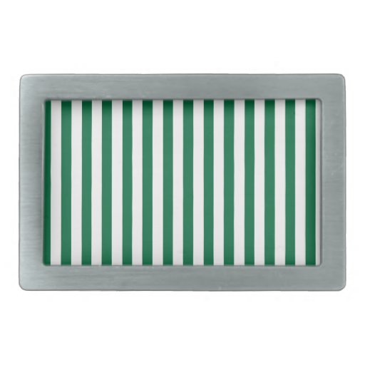 Rayas verdes del cadmio; Rayado Hebilla Cinturon Rectangular