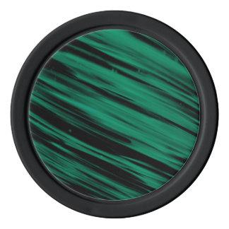 Rayas verdes fichas de póquer