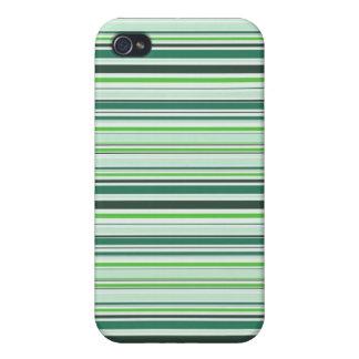 Rayas verdes frescas iPhone 4/4S carcasas