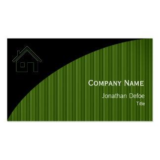Rayas verdes inmobiliarias de las propiedades el | tarjetas de visita