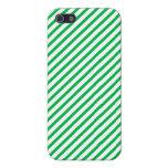 Rayas verdes iPhone 5 cárcasas