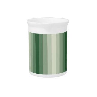 Rayas verdes jarra para bebida
