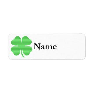 rayas verdes light.png del trébol etiqueta de remitente