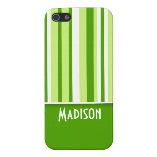 Rayas verdes; Lindo iPhone 5 Protector