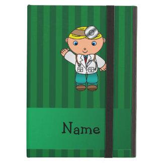 Rayas verdes personalizadas del doctor conocido