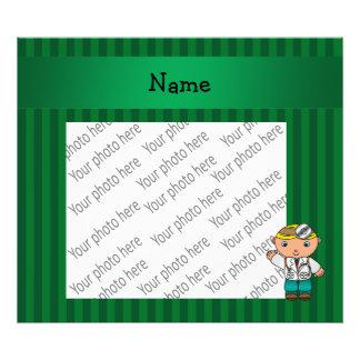 Rayas verdes personalizadas del doctor conocido impresión fotográfica