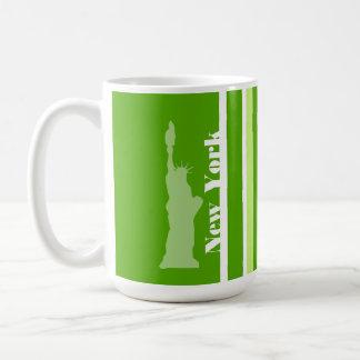 Rayas verdes; Rayado; Estatua de la libertad Tazas