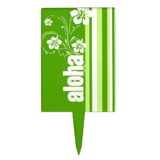 Rayas verdes; Rayado; Hawaiana Figura Para Tarta