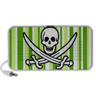 Rayas verdes Rogelio alegre rayado Pirata iPhone Altavoces