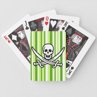 Rayas verdes Rogelio alegre rayado Pirata Baraja De Cartas