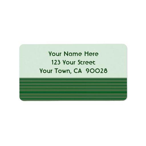Rayas verdes simples etiquetas de dirección