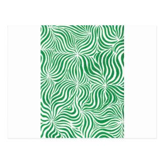 Rayas verdes tarjeta postal