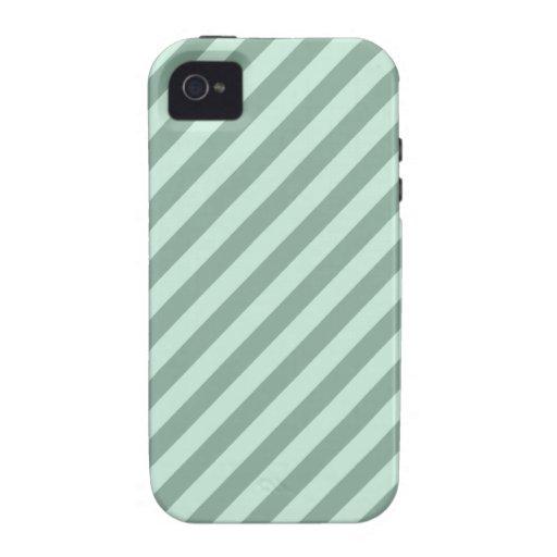 Rayas verdes vibe iPhone 4 funda