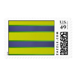 Rayas verdes y azules sello